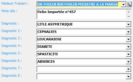 8 diagnostics fiche patient
