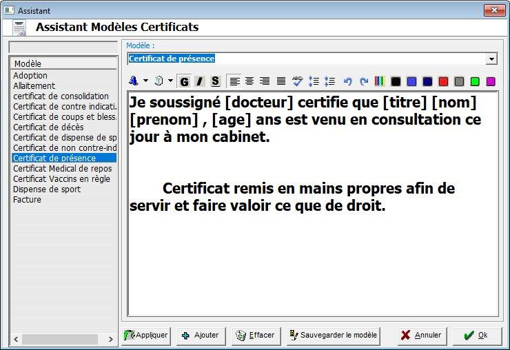 logiciel medical plus certificat