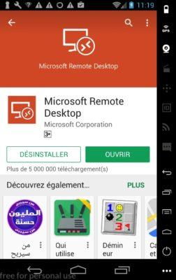 Microsoft Remote Desktop - ouvrir