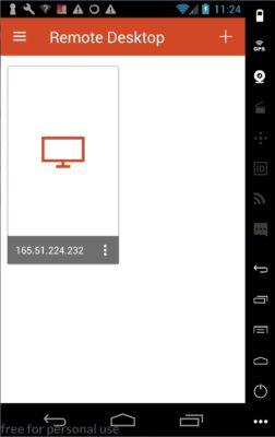 Microsoft Remote Desktop - Connexion créée
