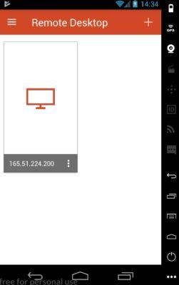 Microsoft Remote Desktop - connexion modifiée